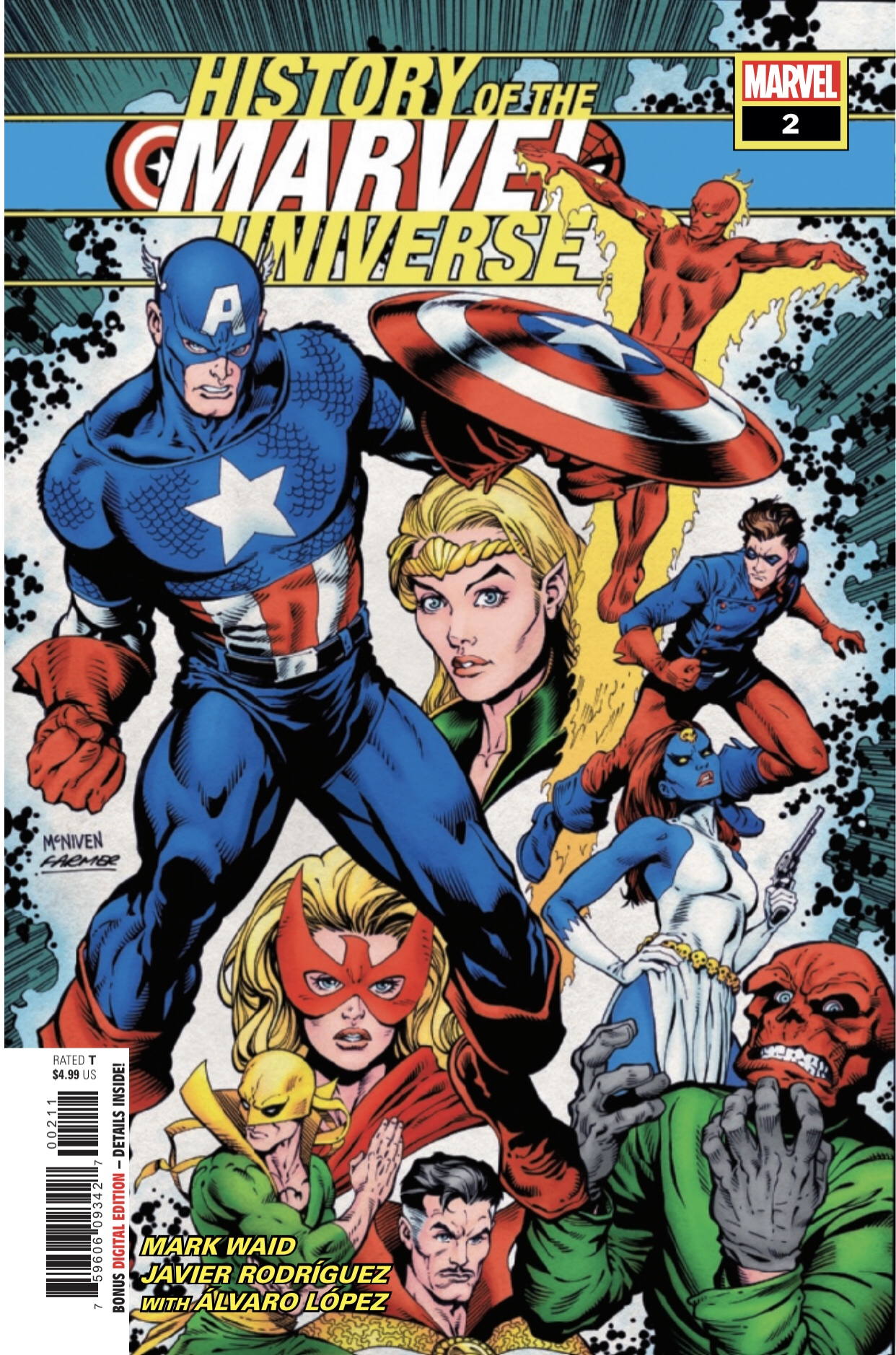 Marvel Comics Waid Rodriguez History Of The Marvel Universe #2 2019